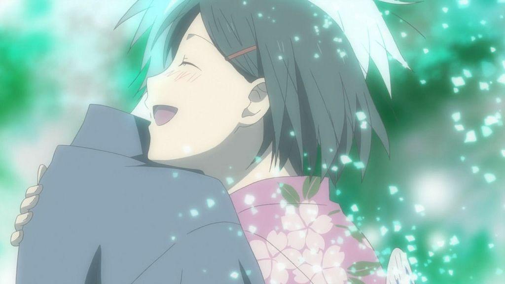 Hotaru Hugs Gin At Last Anime Phim Hoạt Hinh Nghệ Thuật