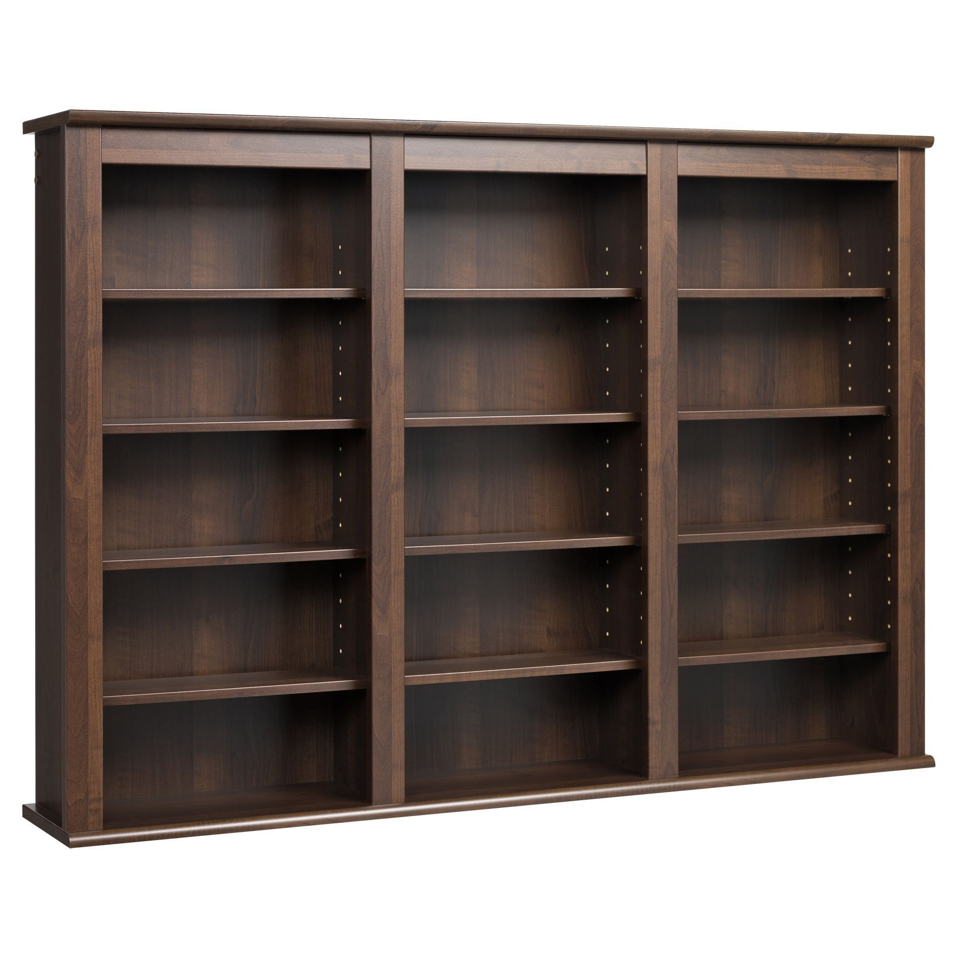 Everett Espresso Wall Hanging Media Storage Cabinet In