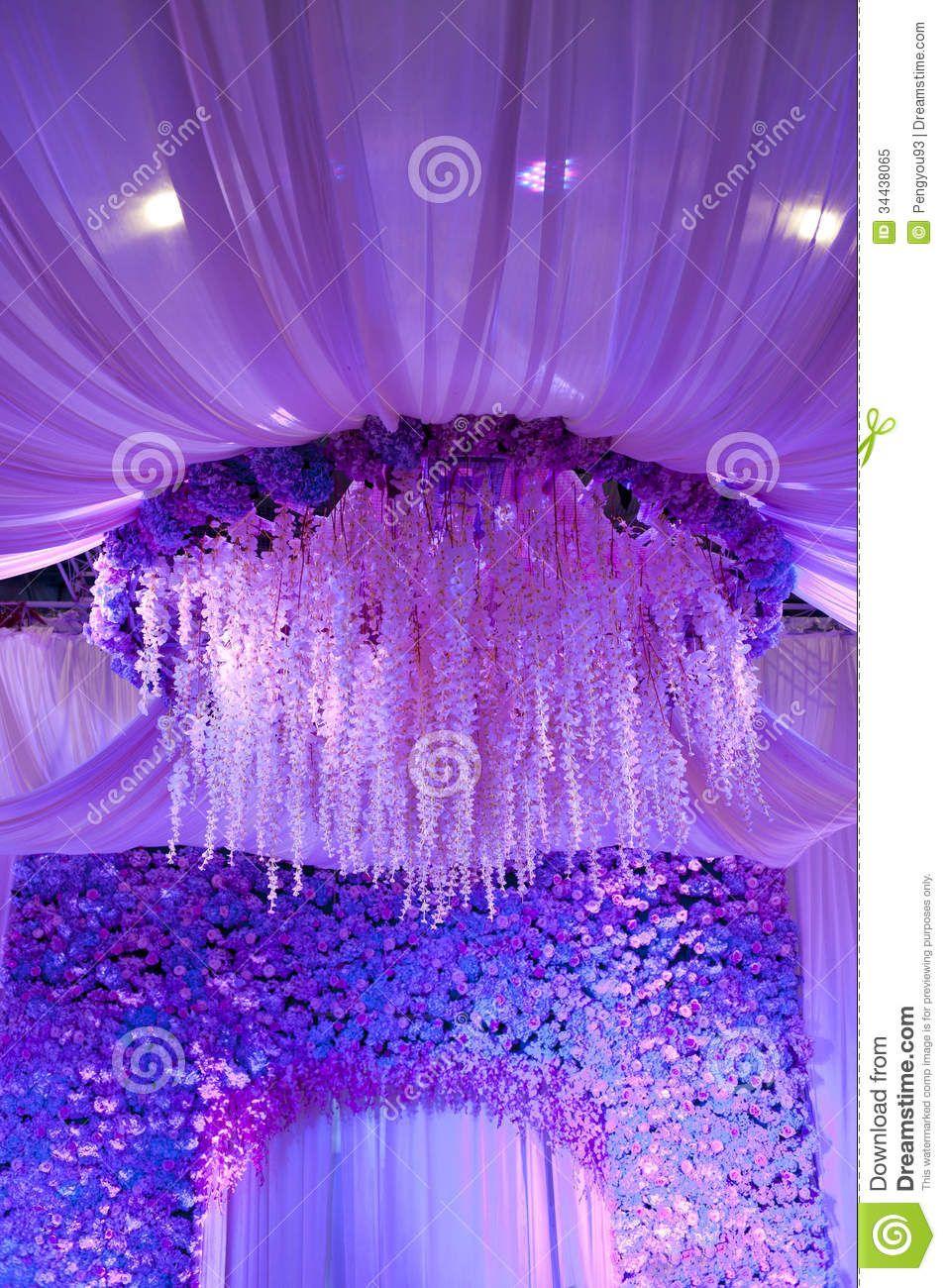 Purple wedding stage decor wedding decor pinterest wedding purple wedding stage decor junglespirit Image collections