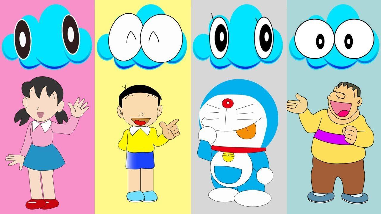 Colors For Children To Learn Wrong Eyes Doraemon Nobita Xuka Vs Chaien F