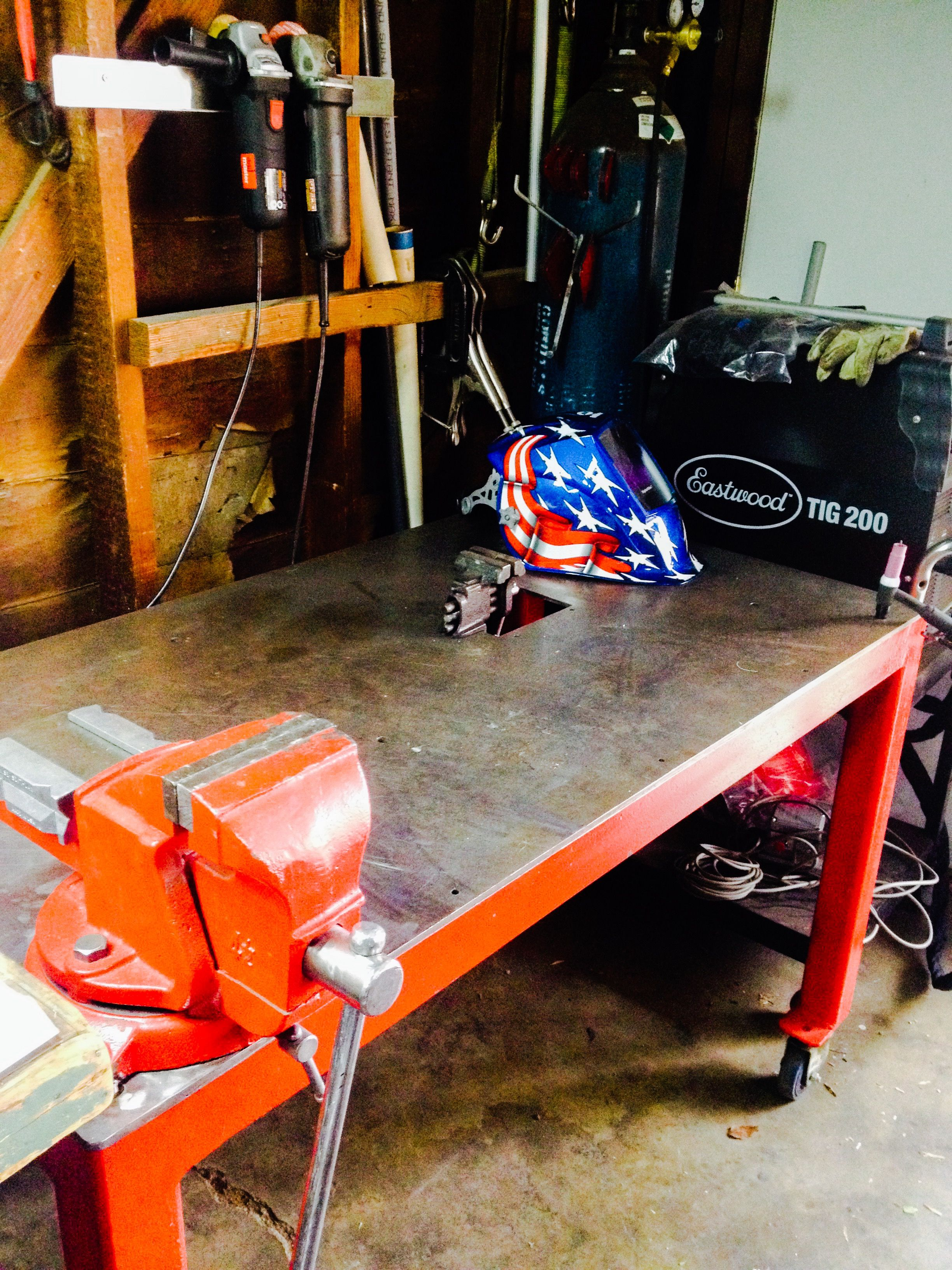 Awe Inspiring Tig Welding Setup In The Garage Metal Projects Garage Pabps2019 Chair Design Images Pabps2019Com
