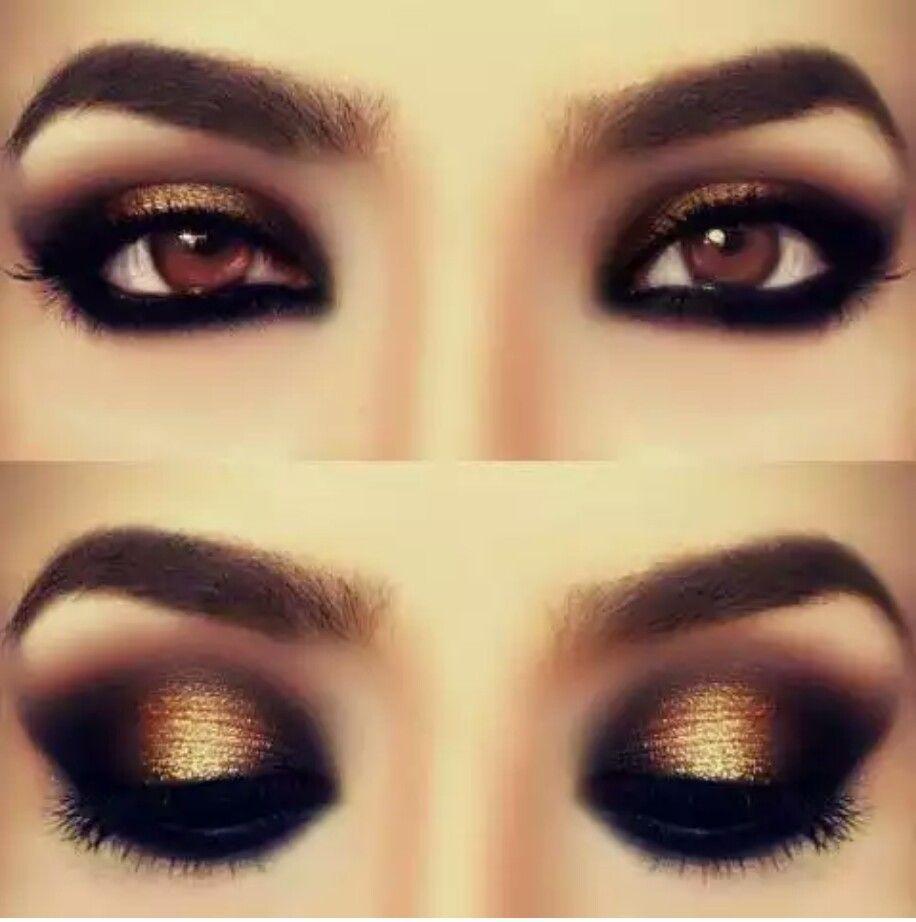 ojos marrn resaltarlos con colores tierra como dorados caf y rosa claro