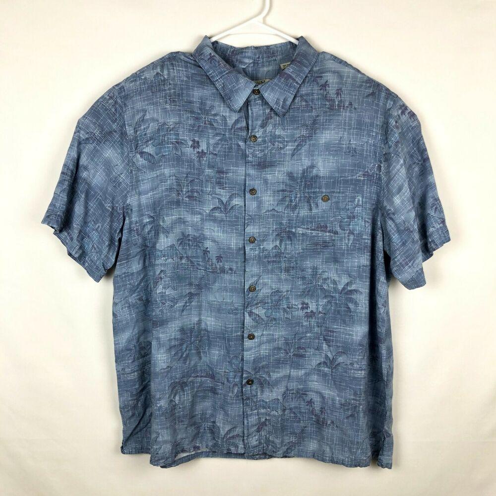 d4c23bb6eb84 Batik Bay Mens XXL Hawaiian Tropical Floral Short Sleeve Shirt Blue Button  Down  BatikBay