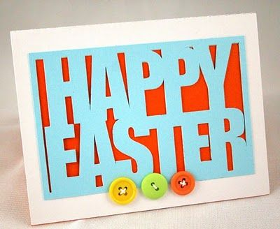 Bold Easter card