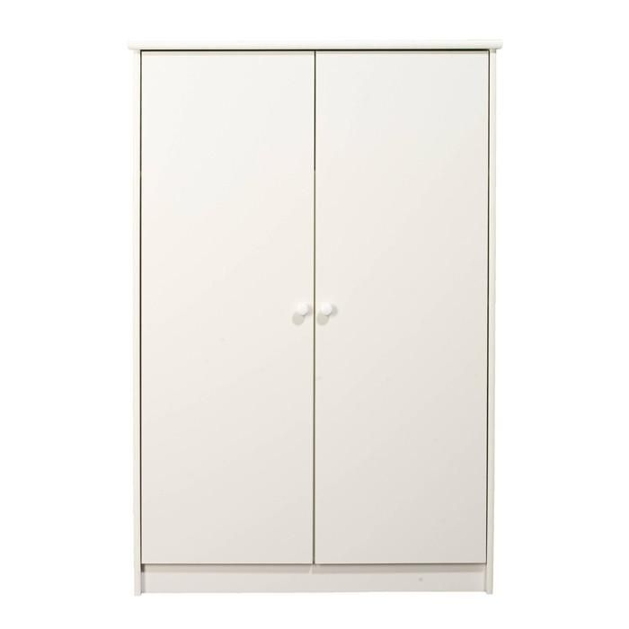 KIDS World 2 Door Fitted White Wardrobe will be a fantastic addition to your childs bedroom! Constructed from sturdy MDF with a striking white painted finish, this simple piece has plenty of room for storing clothes, toys or games. #home #decor
