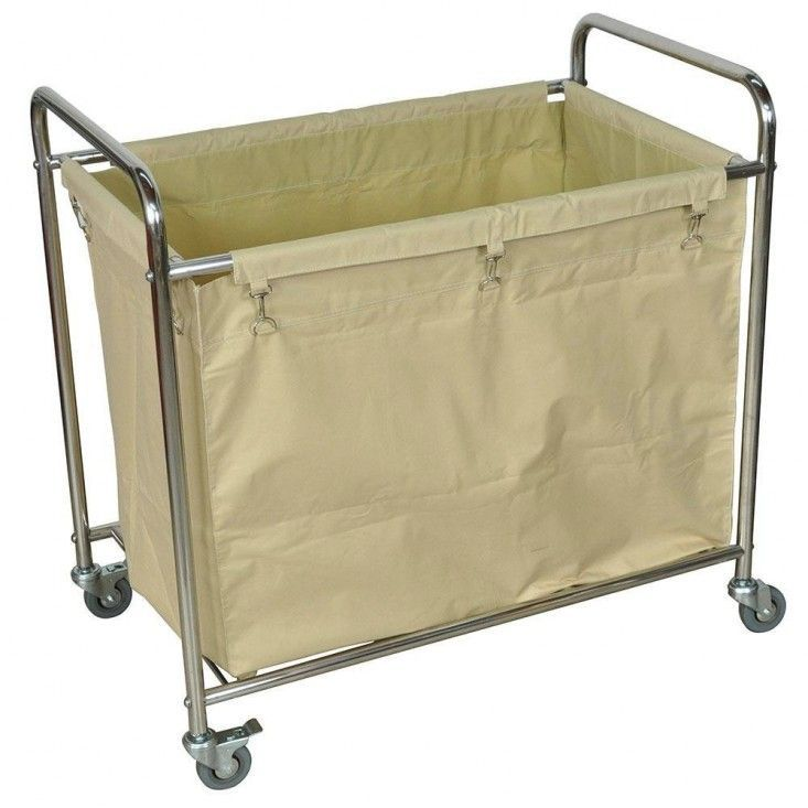 Luxur Laundry BIn on Wheels | Remodelista