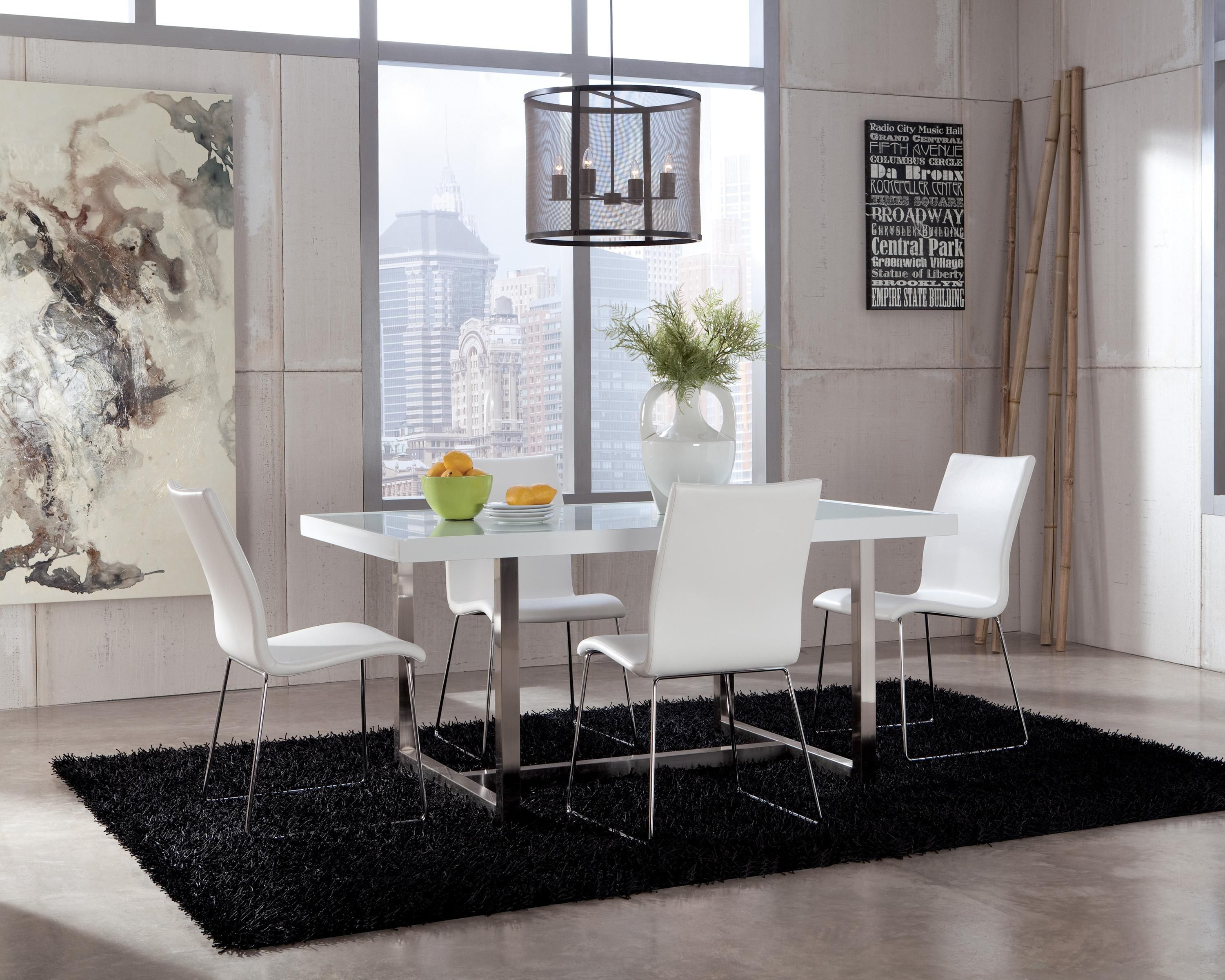 Daryl Modern White Dining Room Chair By Ashley Furniture John V