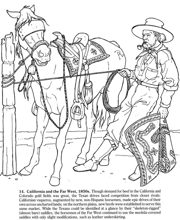 cowboys of the old west coloring book big book of the old west to color - Amish Children Coloring Book Pages