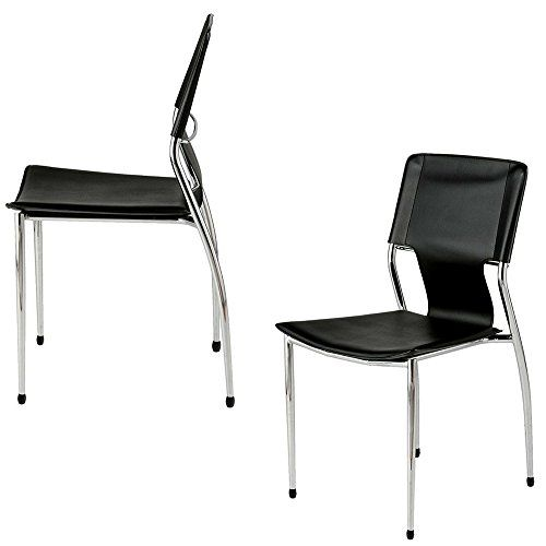 Modern Dining Chairs Set Of 4 With Chrome Legs Contemporary Modern