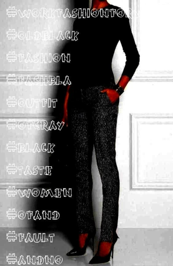 of taste for this outfit workfashionforwomenover50  Fashion for old Women Gray and black no fault of taste for this outfit workfashionforwomenover50  Fashion for old Wome...