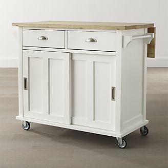 Belmont White Kitchen Island Reviews Crate And Barrel White Kitchen Island Portable Kitchen Island Kitchen Island Cart