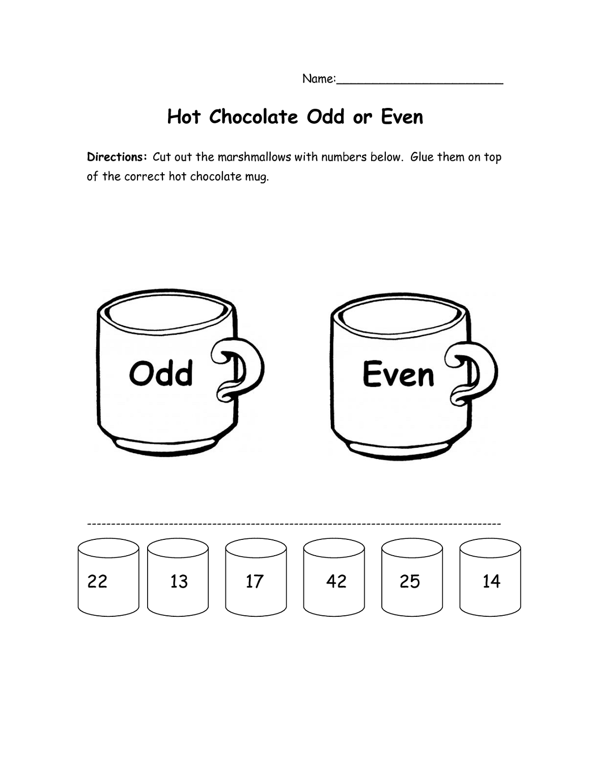 Even And Odd Number Worksheets 1st Grade