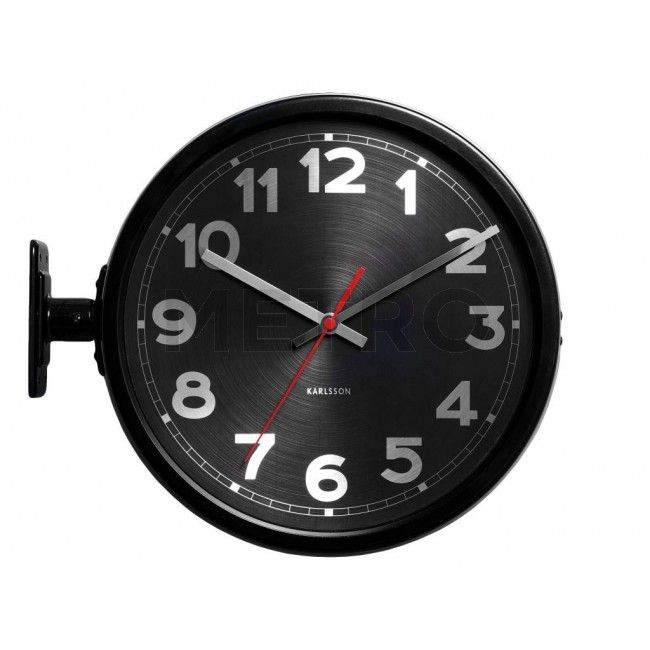 black karlsson double sided station clock