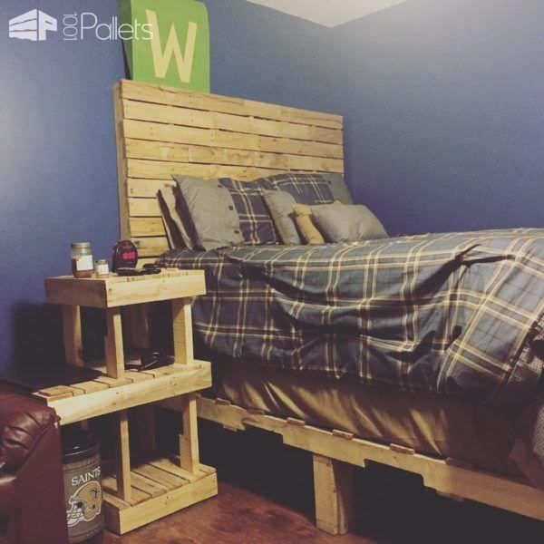 Pallet Bedroom Set • Pallet Ideas | Coats, Shelves and Bedroom sets
