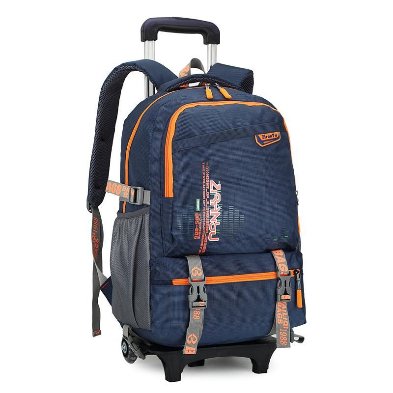 Waterproof Trolley backpack boys Girls children School Bag Wheels Travel  bag Luggage backpack kids Rolling detachable schoolbags. d9e95f1b00074