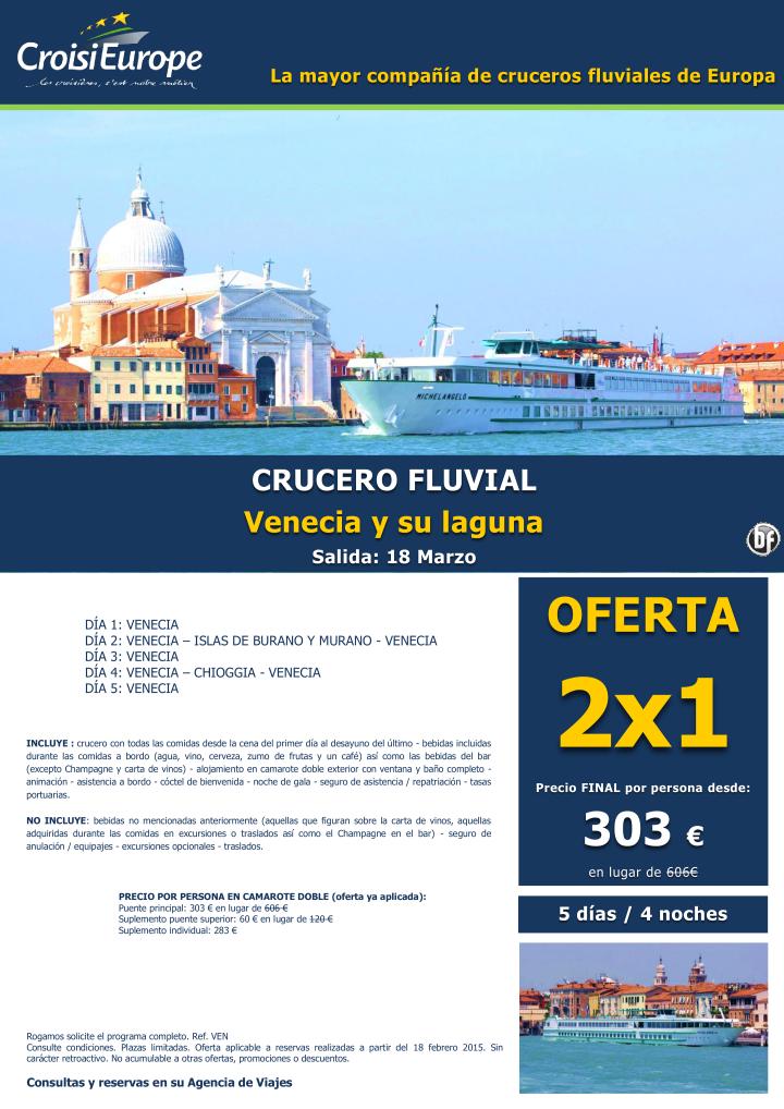 Crucero Fluvial por Venecia-OFERTA 2x1-dsd 303€ pax-Salida Especial Puente San José 18 Marzo(5d/4n) ultimo minuto - http://zocotours.com/crucero-fluvial-por-venecia-oferta-2x1-dsd-303e-pax-salida-especial-puente-san-jose-18-marzo5d4n-ultimo-minuto/