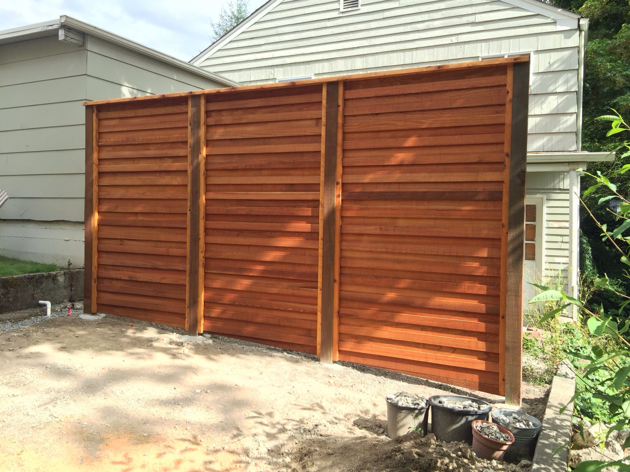 Garden trees for screening  Horizontal Privacy Screen  Privacy Screen  Pinterest