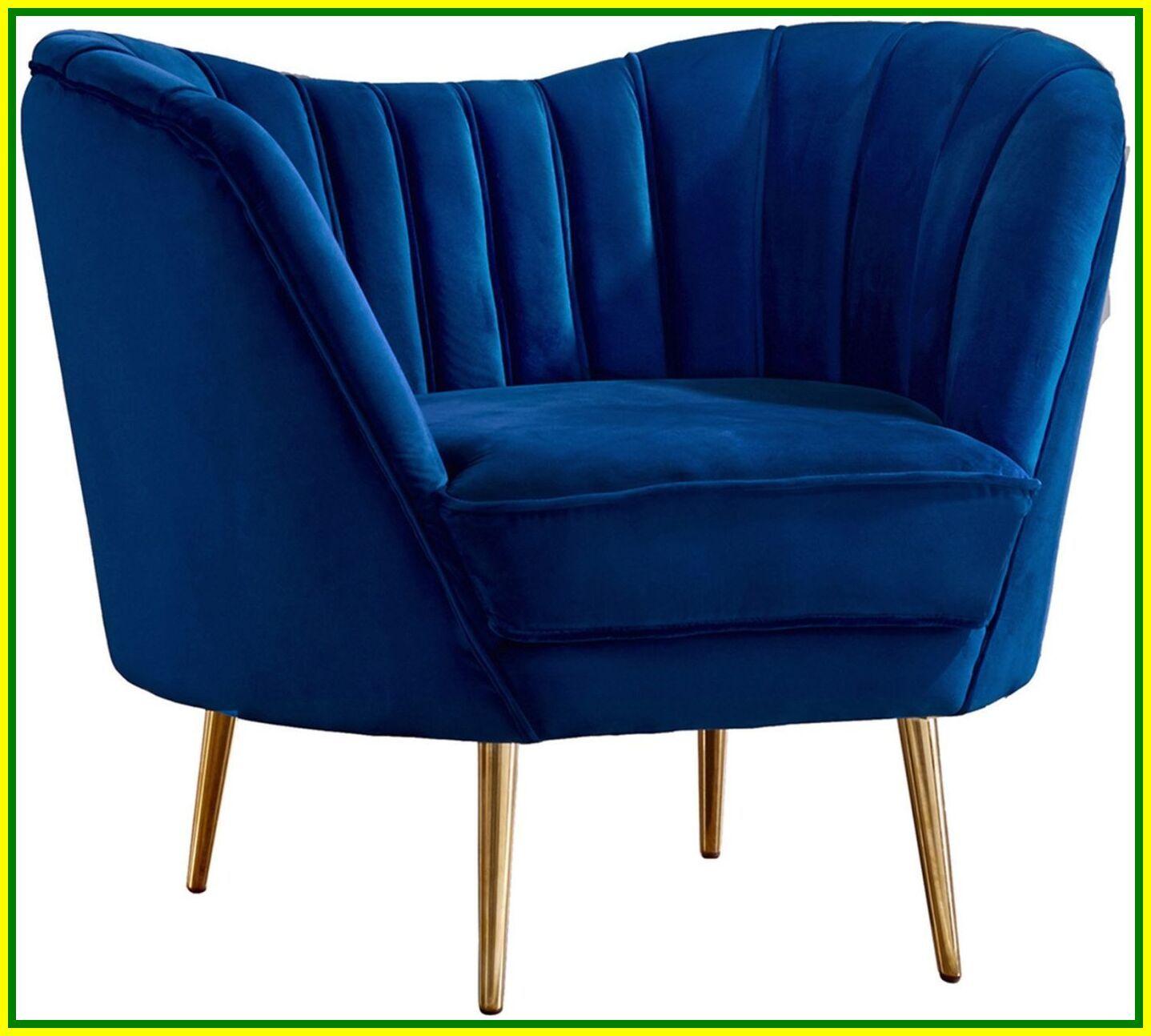 navy velvet swivel chair