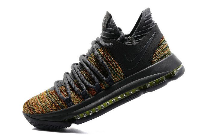 best service ac378 01e18 2017 New Arrival Latest KD 10 Shoes 2017 Kevin Durant Multi Color Dark Grey  For Cheap