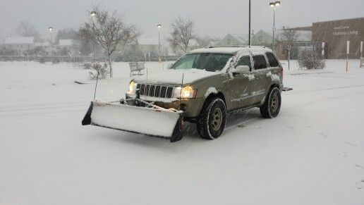 Bring On The Snow I M Ready To Get Pushy With My Custom Built Plow Mounting System Jeep Cherokee Jeep Grand