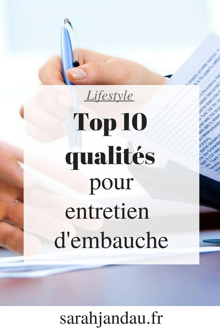 Top 10 Des Qualites Pour Un Entretien D Embauche Sarahjandau Fr Entretien Embauche Embauche Entretien
