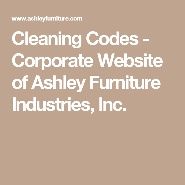 Cleaning Codes Corporate Website Of Ashley Furniture Industries Inc