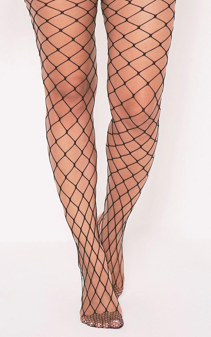 8b671235a0f Inari Black Large Fishnet Tights