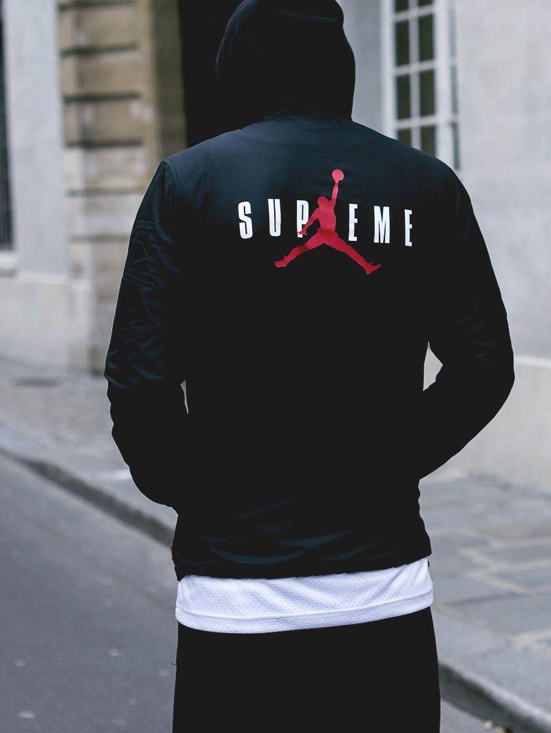 f2db82a36ead SUPREME × JORDAN Hoodie  airjordan  supreme  streetwear