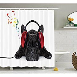 Dog Shower Curtains Dog Lover Decor Dog Shower Cute Shower