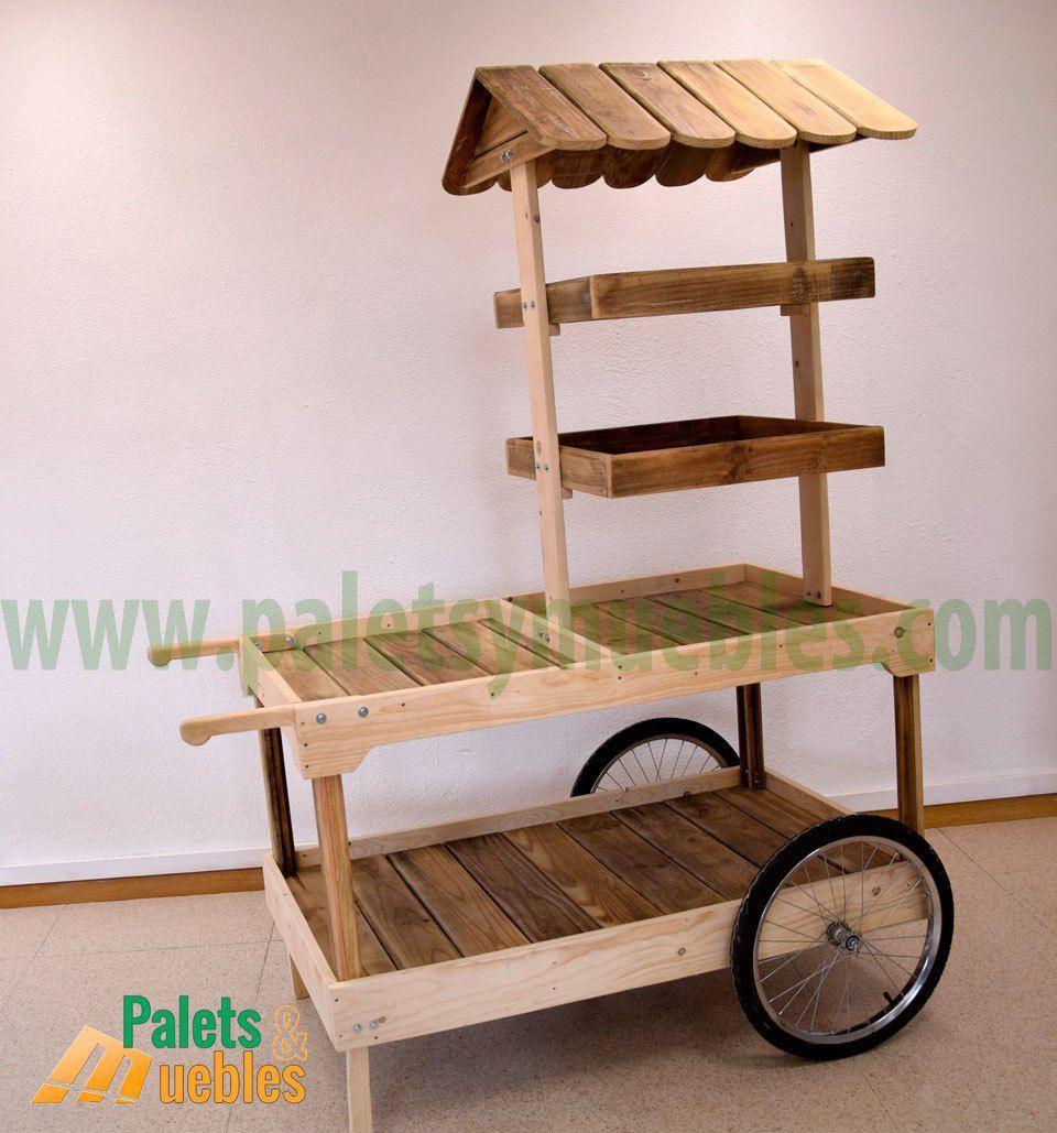 Resultado De Imagen Para Carritos Exhibidores Porta Herramientas Candy Cart Wood Display Stand Pallet Decor