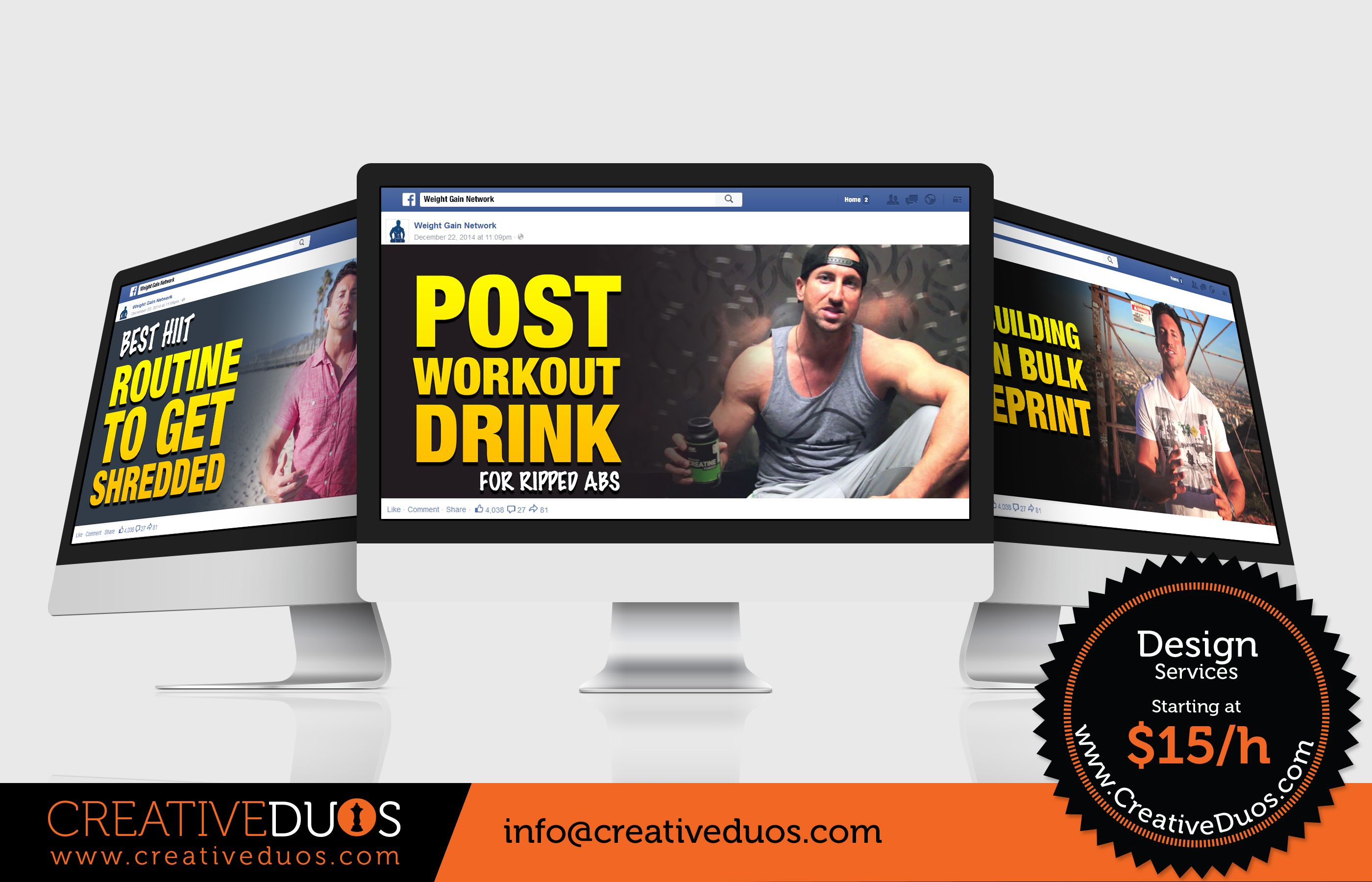 Facebook Campaign posts for Weight Gain Network https://www.facebook.com/weightgainnetwork by CreativeDuos.com