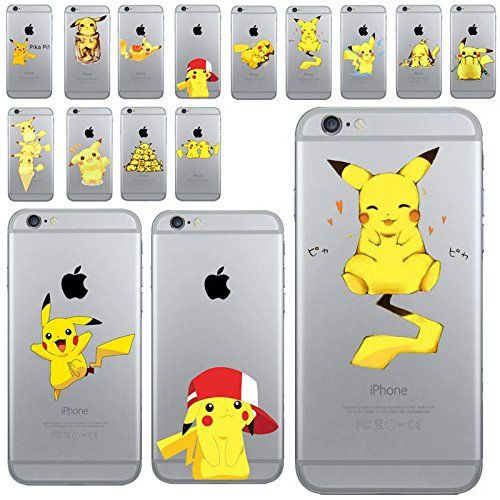 Cartoon fundas Pikachu Pokemon Go Case