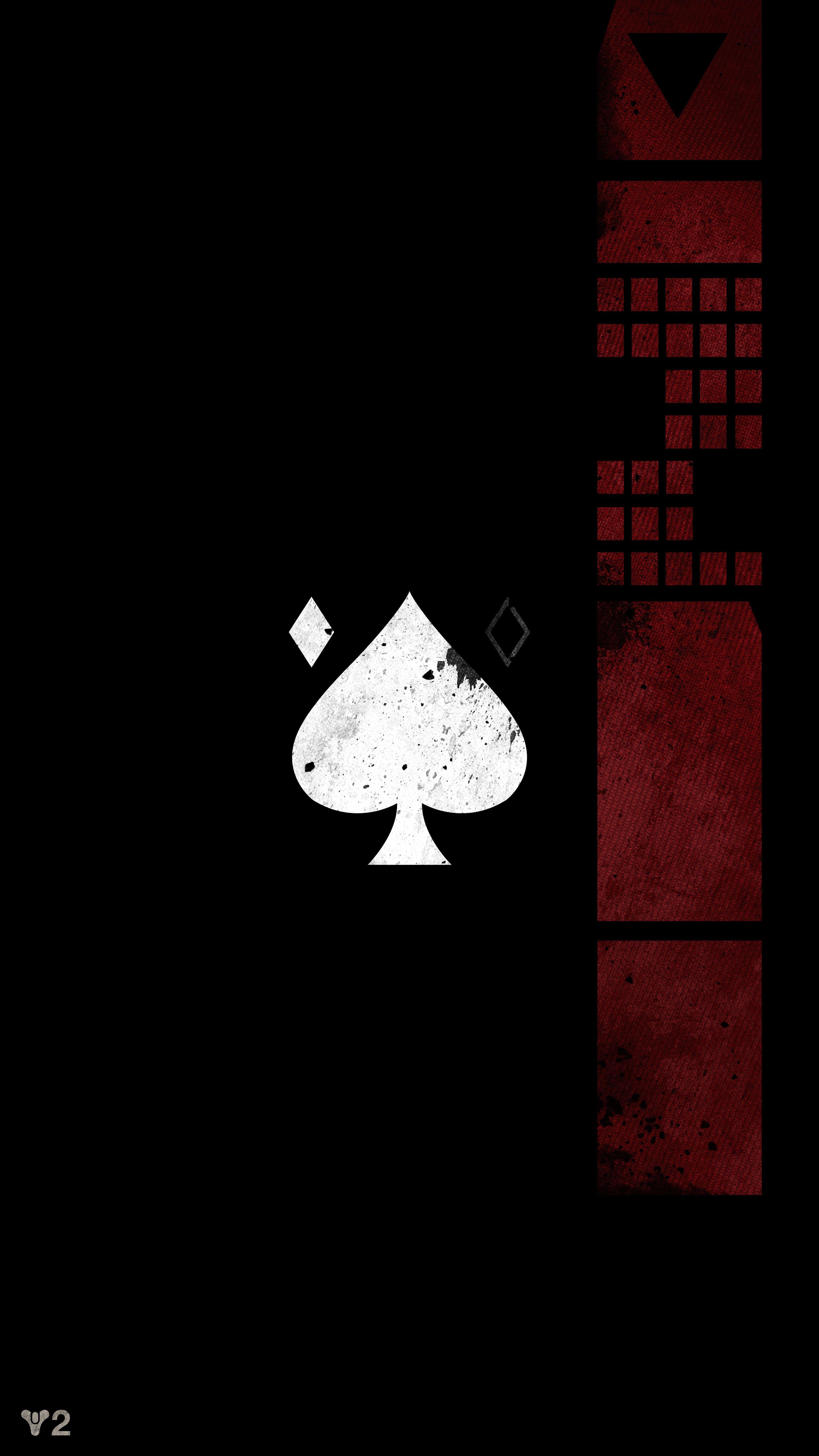 Ace Of Spades Emblem Mobile Wallpaper Destiny Game Destiny Tattoo Destiny Backgrounds