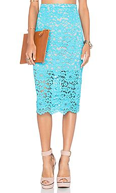 NBD x Naven Twins Oblivion Layered Skirt in Turquoise Lace | REVOLVE
