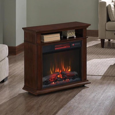 Duraflame 31 5 In W Cherry Infrared Quartz Electric Fireplace At