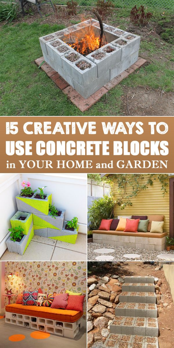 15 Creative Ways to Use Concrete Blocks in Your Home and Garden -   25 did garden bench ideas