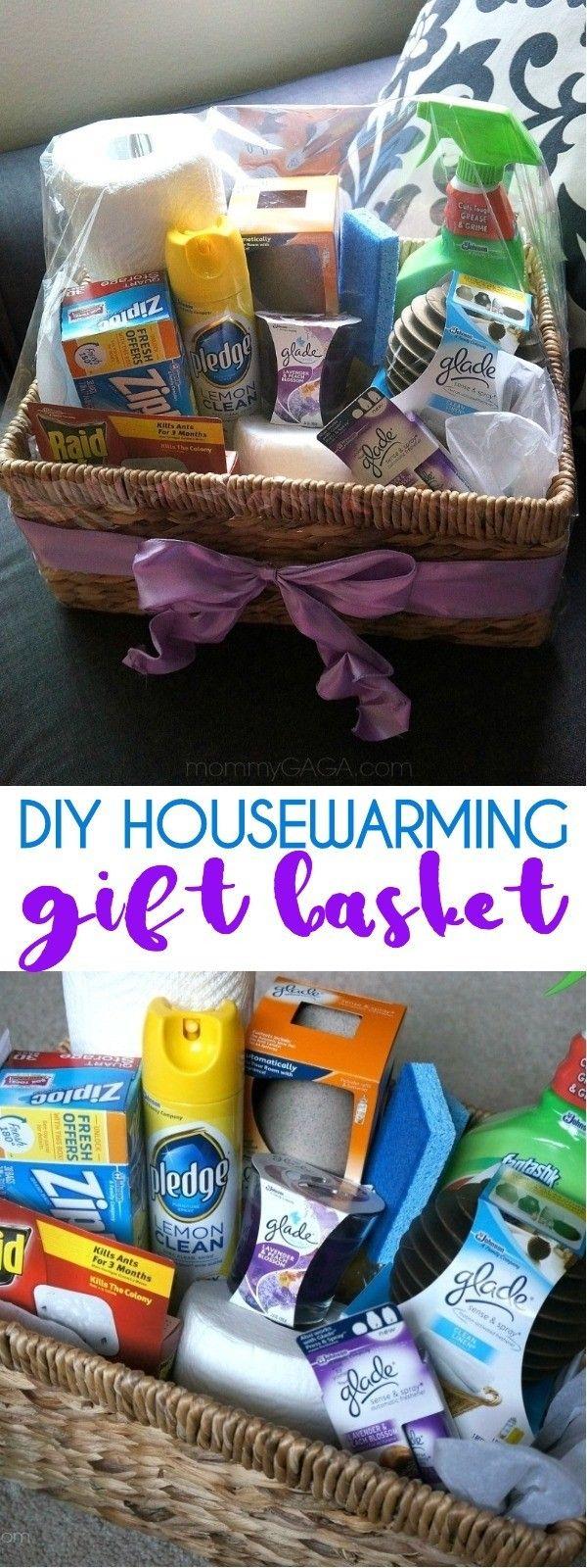 DIY Housewarming Gift Ideas: Make A DIY Home Essentials Gift Basket! #boyfriendgiftbasket