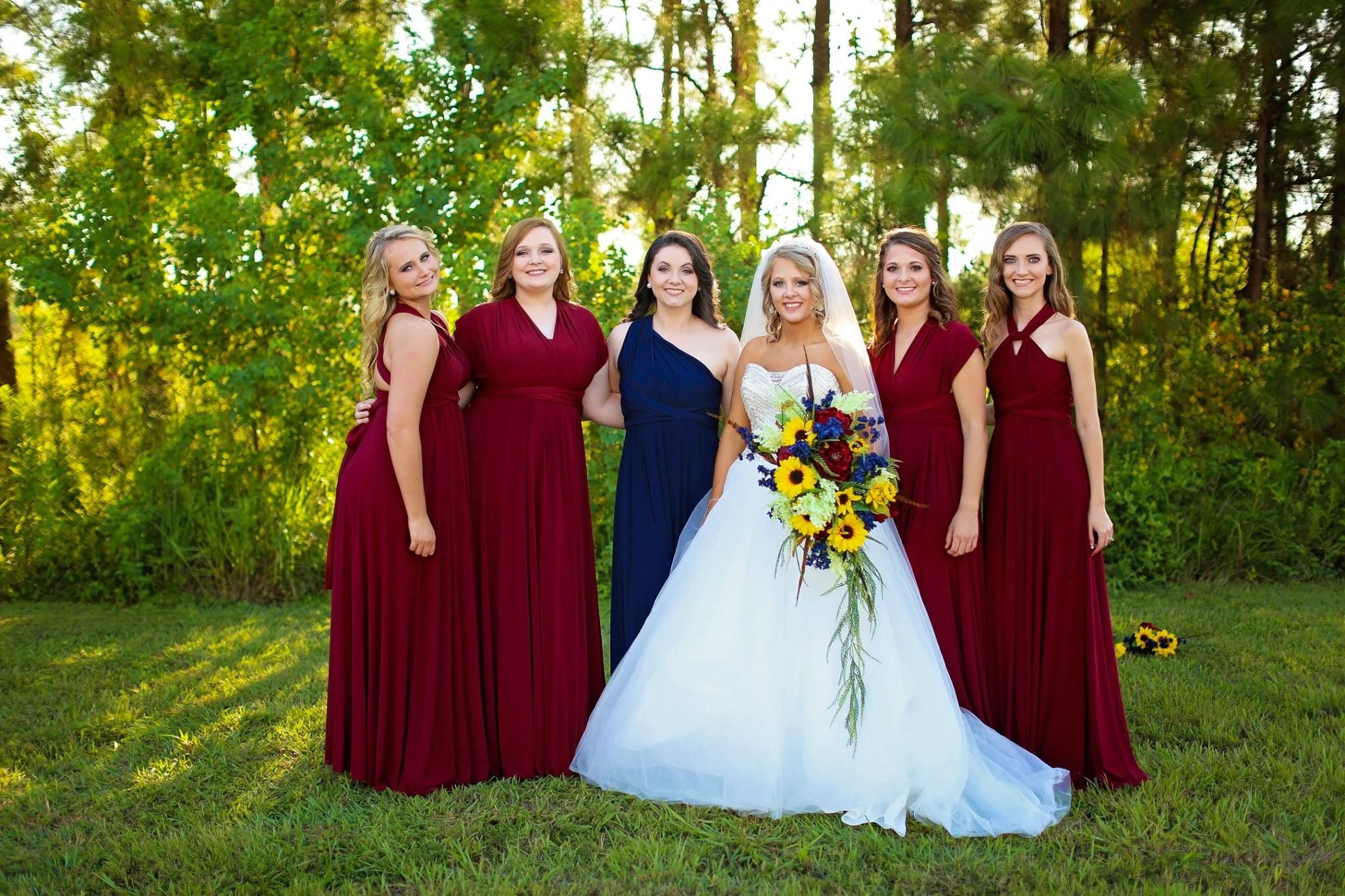 Burgundy Navy Wedding Bride Sunflowers Dark Blue Wedding Blue Sunflower Wedding Blue Red Wedding