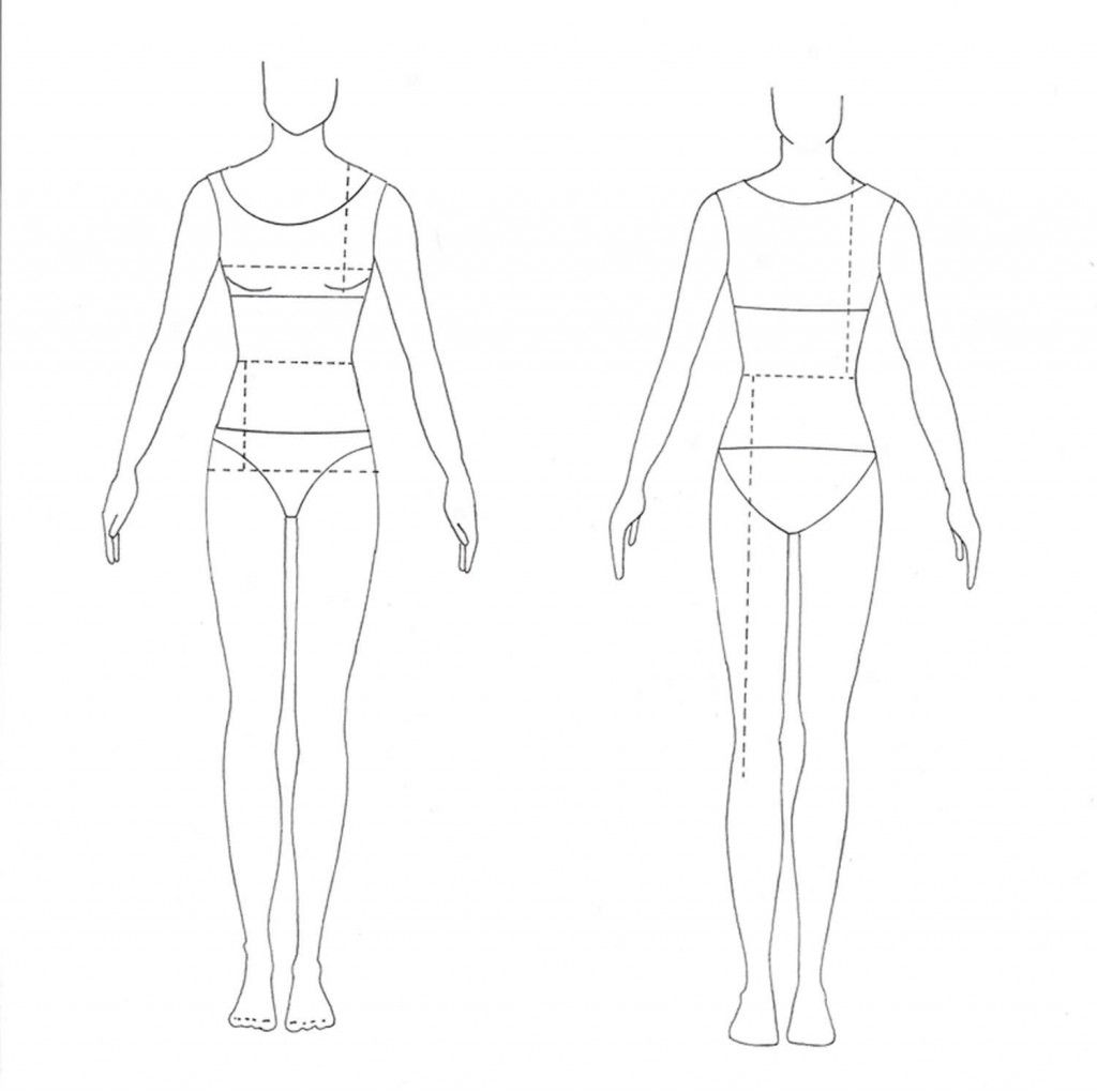 Download free fashion template for your fashion design sketches. Use 90