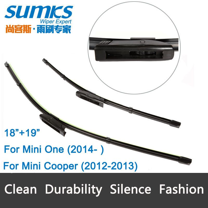 Wiper Blades For Mini Cooper 2012 2013 And Mini One From 2014 Onwards 19 18 Fit Bayonet Type Wiper Arms Only Hy Wiper Blades Renault Fluence Smart Forfour