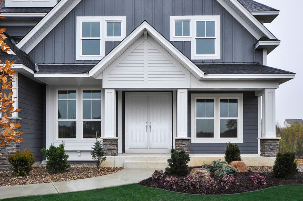 In the world of home exteriors, the color gray is on a roll. Just ...