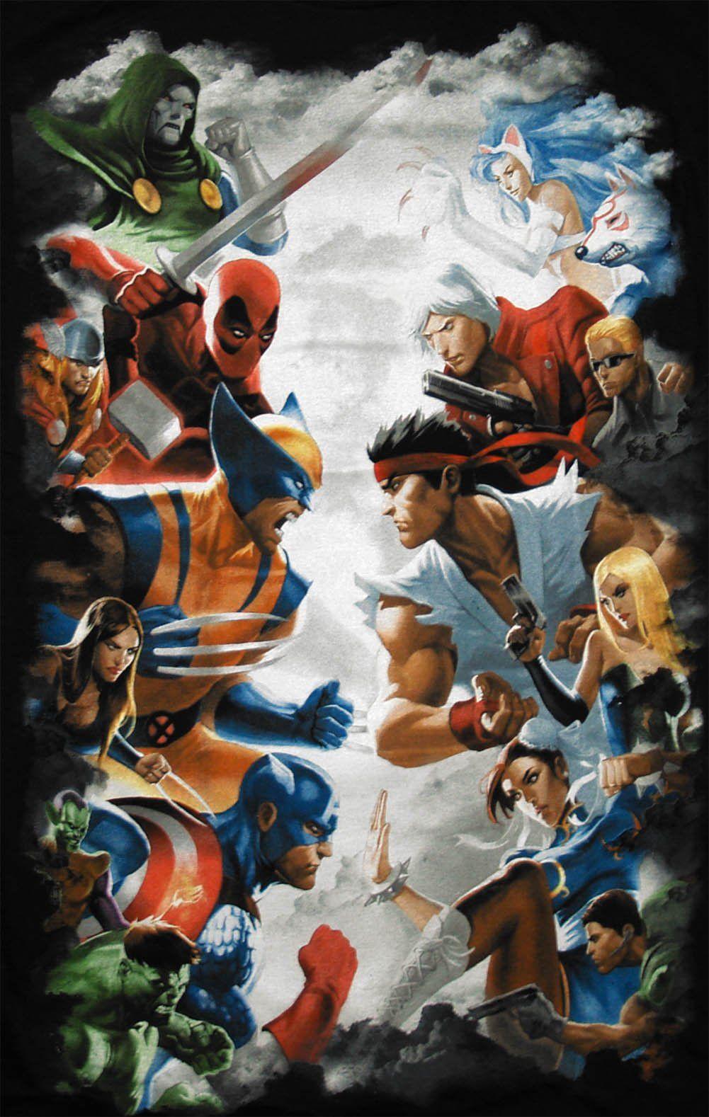 Marvel Fan Art Marvel vs Cap