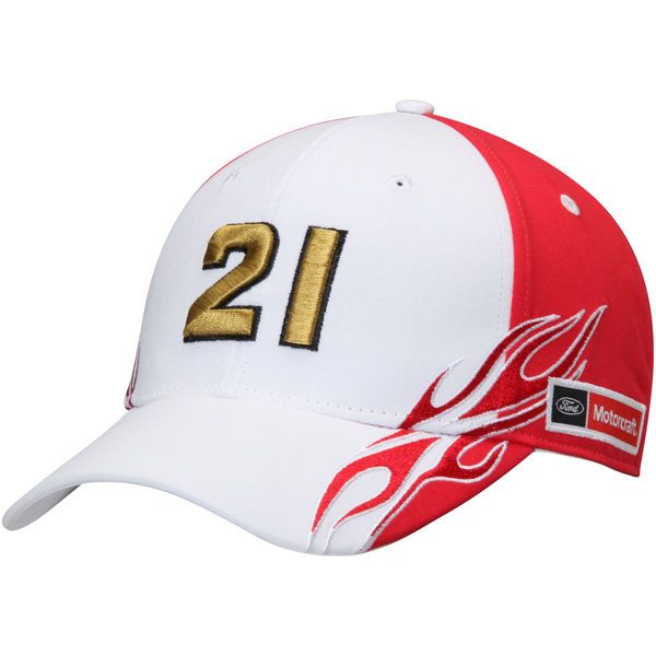 Ryan Blaney Number Flame Adjustable Hat - White -  24.99 ... 1f73f1b1114