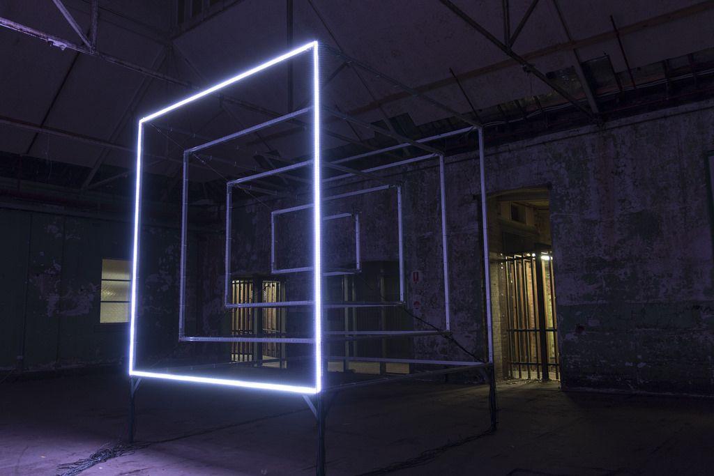 Light Art Led Programmable Sculpture White Night Melbourne