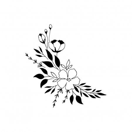 Hand Drawn Floral Bouquet Stock Vector Sponsored Floral Drawn Hand Vector Ad In 2020 Flower Drawing How To Draw Hands Tumblr Drawings Easy