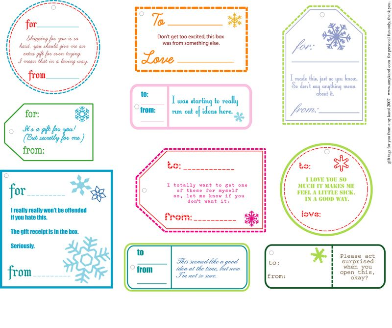 17 best images about Printable gift tags and labels on Pinterest ...