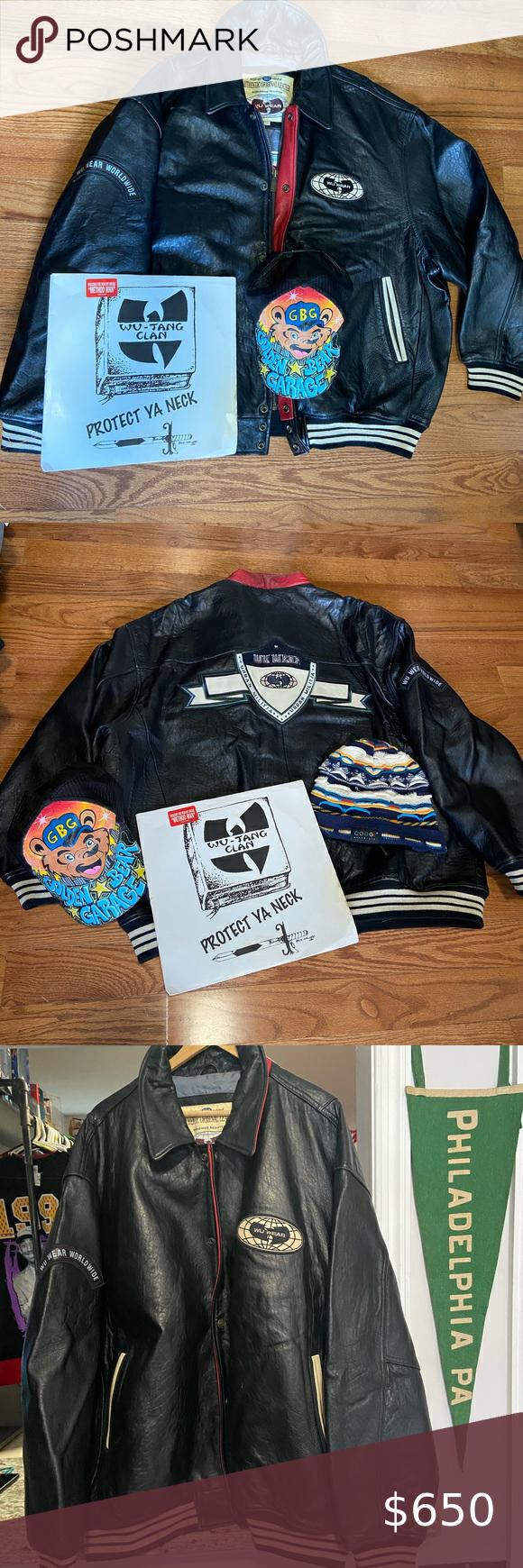 Vintage Wu Tang Wu Wear Leather Bomber Jacket Bomber Jacket Vintage Leather Bomber Jacket Leather Bomber [ 1740 x 580 Pixel ]