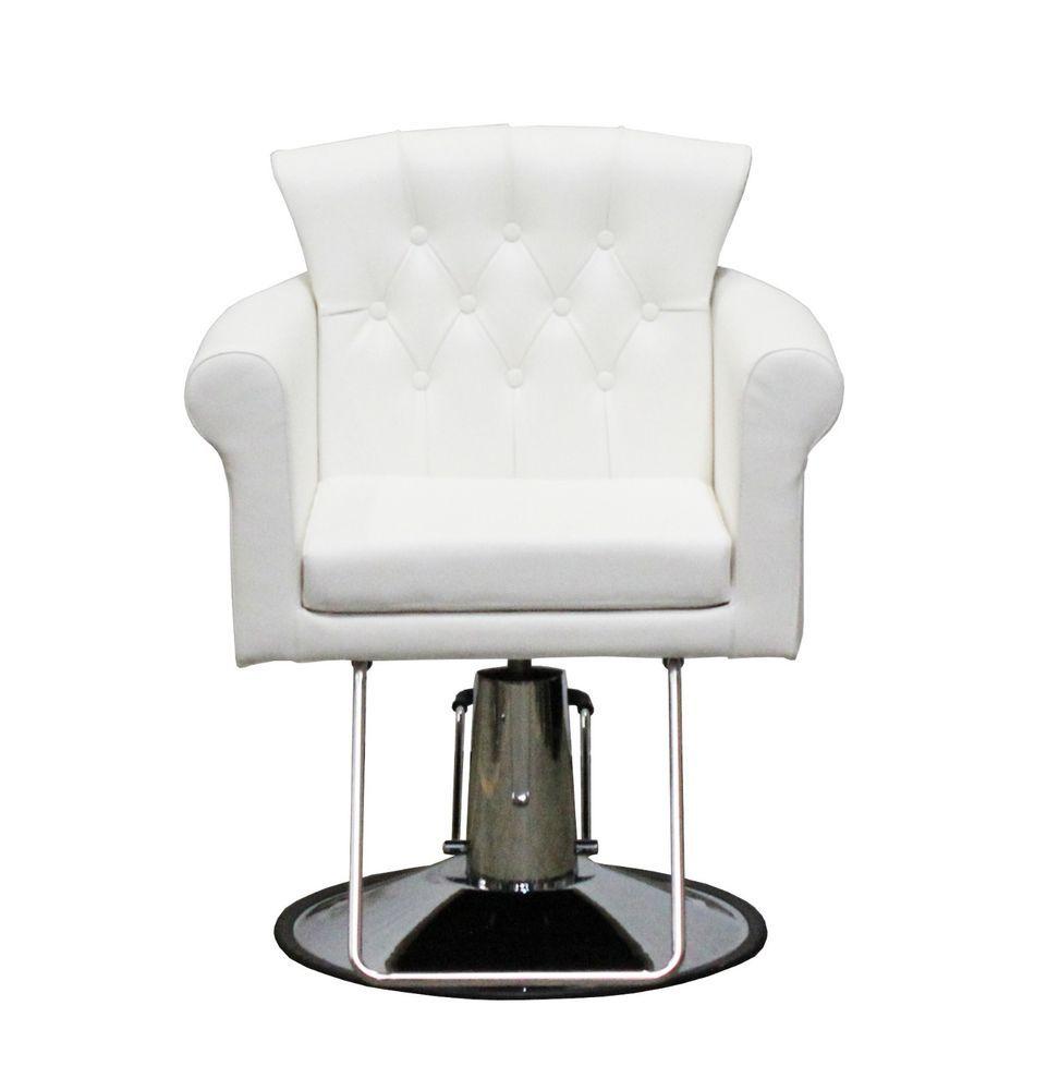 Deco Elizabeth Styling Chair, Salon Chair, Beauty Chair   White