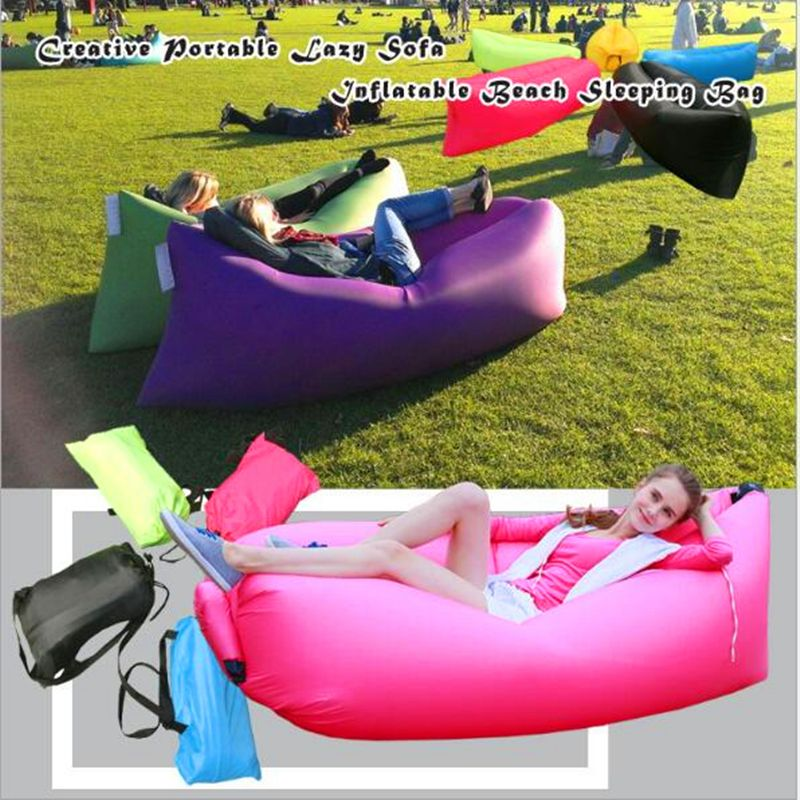 Photo of Drop Shipping Unique 10s Inflatable laybag Sleeping Bag Leisure Hang out Lounger…