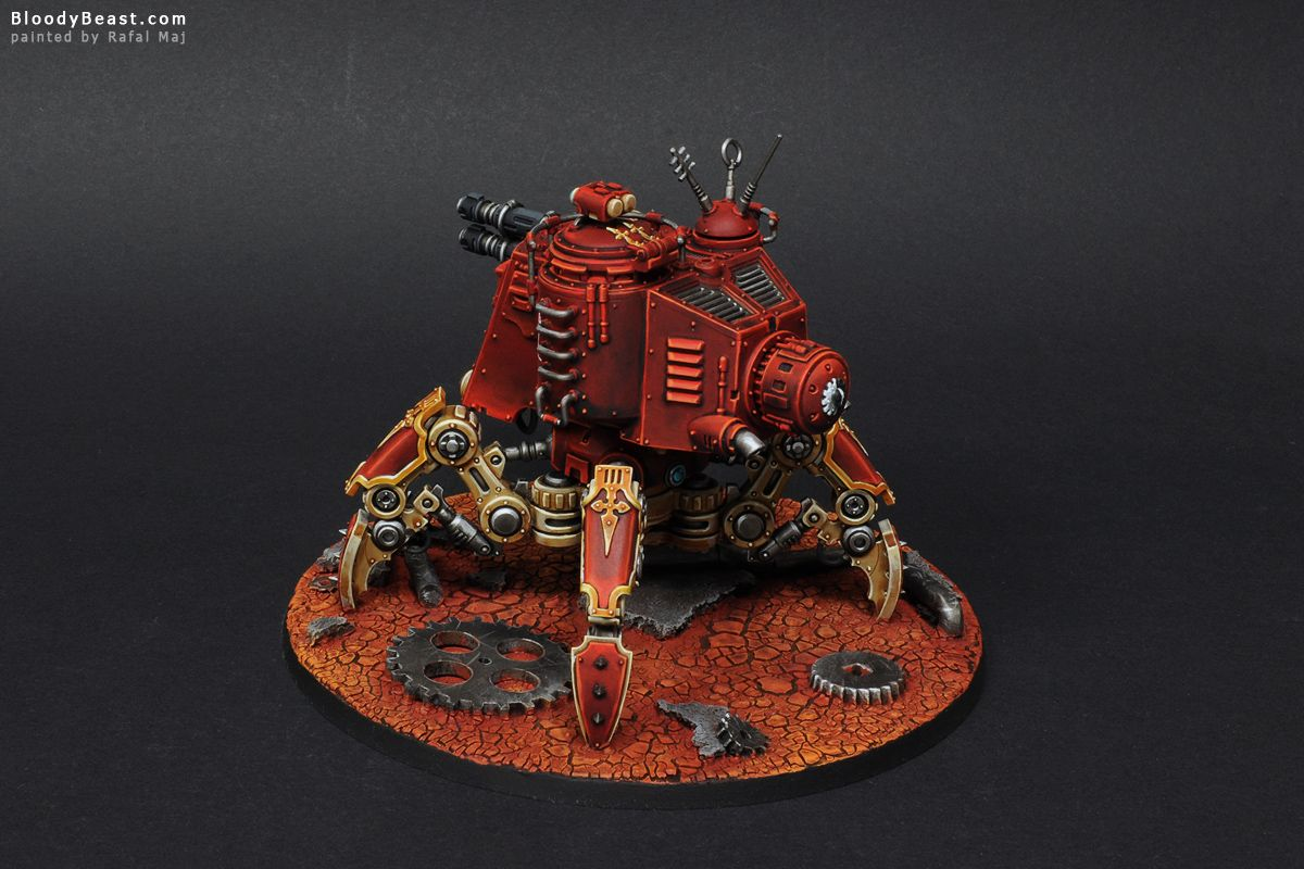 Adeptus Mechanicus Skitarii Onager Dunecrawler painted by Rafal Maj (BloodyBeast.com)